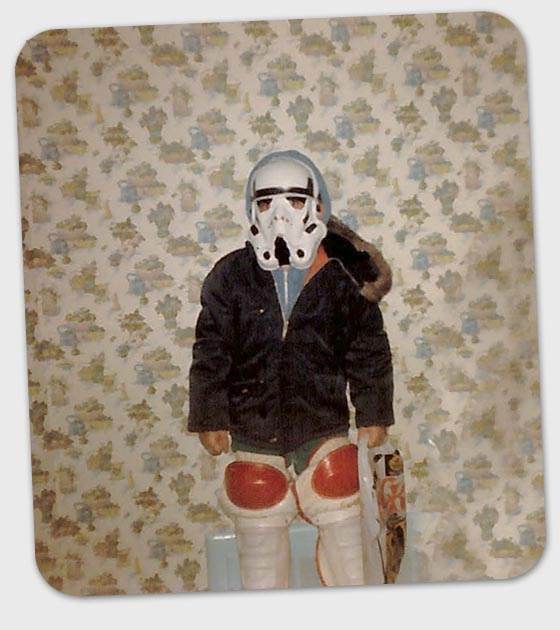 Me in a Stormtrooper costime in 1981