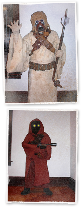 My wife and I as a Tusken Raider and a Jawa