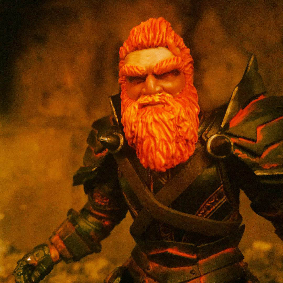 Mythic Legions Fire Dwarf Heat Miser custom