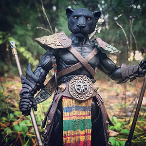 Mythic Legions Black Panther custom